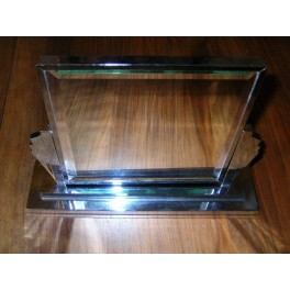 Good English Odeon style Art Deco table or make-up mirror (rechromed)