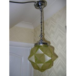 Large yellow glass star shade fixture
