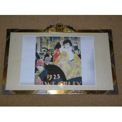 French brass and chrome wall hanging rectangular photo frame