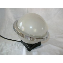Superb glass/chrome Saturn style table lamp by Davidson