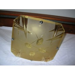 ( SOLD ) Yellow square modernist shade by Degue