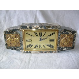 Superb Bayard marble mantle clock with 8 day movement
