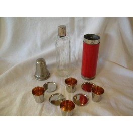 Art Deco travelling schnapps set