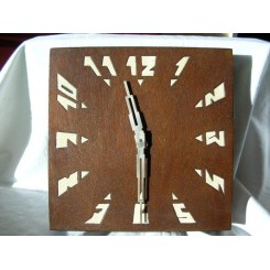 Art Deco French wood wall clock (30 hour movement)