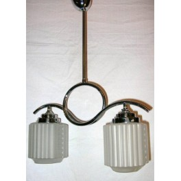 Modernist French 2 Arm Chrome fixture