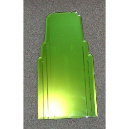 Rare English Step Design Art Deco Green Mirror