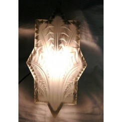 Large elongated star shaped French Art Deco wall light