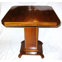 Excellent fully restored Art Deco occasional table with quarter cut veneered top