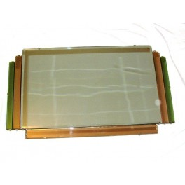 Superb Quality Step Design Green Pink And Clear Art Deco Mirror