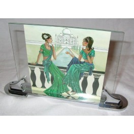 Art Deco Chrome Photo Frame With S Shaped Supports
