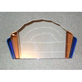 Step Design Cloud Mirror With Blue And Peach Side Bands