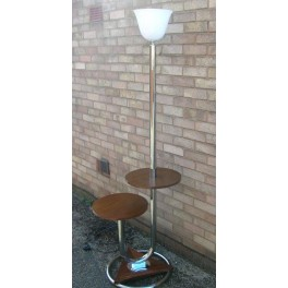 Super Rare Modernist French standard lamp with circular tables by Mazda