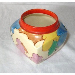 Clarice Cliff Pot In The Autumn Pattern