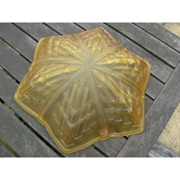 ( SOLD ) Superb star shaped yellow glass fixture by Jean Noverdy