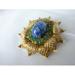 Lovely Blue And Green Brooch By Dior 1965