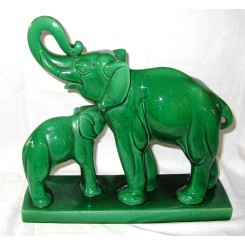 Craquele Elephants By Charles Lemanceau For St. Clement