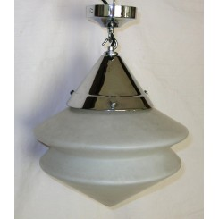 Excellent Modernist Twin Cone Glass Fixture