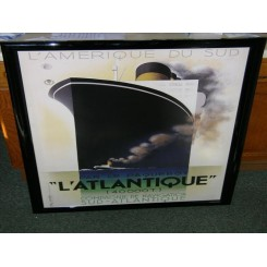 Excellent lithograph of a french liner