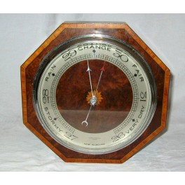 Wonderful British early Art Deco wall barometer