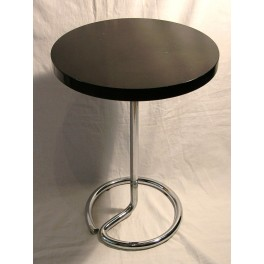 Modernist Chrome Tube And Bakelite Top Table By Stablet