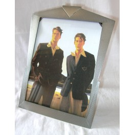 Pewter Art Deco Photo Frame With Easel Support