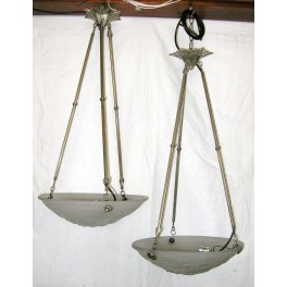 Excellent Pair Of Muller Frere Geometric Fixtures