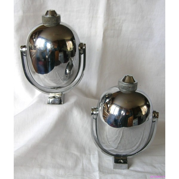 Pair Of Art Deco Wall Mounted Chrome Soap Dispensers