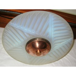 Art Deco Fixture In Opalescent Glass By Charles Ranc