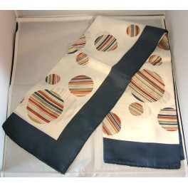 Vintage Silk Scarf Of Polka Dot Design Circa 1970