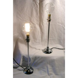 Pair Of American Modernist Chrome Table Lamps