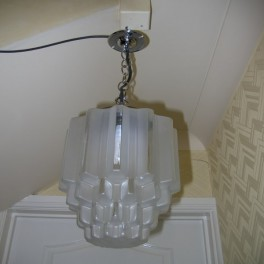 French odeon style art deco ceiling fixture