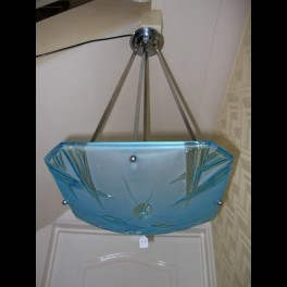 Blue square glass ceiling fixture by degue