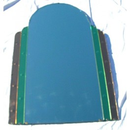 Art Deco Odeon style stepped Bi-coloured mirror in great condition