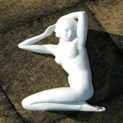 Superb art deco kneeling figure by sevres made from bisque