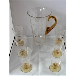 Yellow Glass Deco Lemonade Set