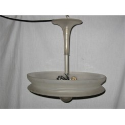 French All  Frosted Glass Modernist Fixture