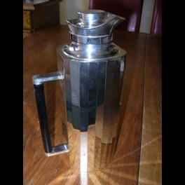 Modernist silver plated thermos flask