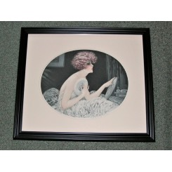 Original Art Deco Dry Point Etching By Maurice Millere