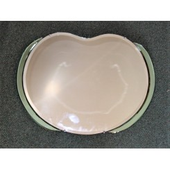 Green and clear Art Deco apple mirror