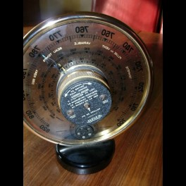 Superb jaeger table barometer and thermometer