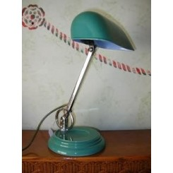 Very rare wedgwood pottery desk lamp with chrome mounts
