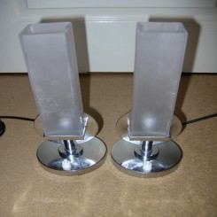 Excellent pair of modernist table lamps