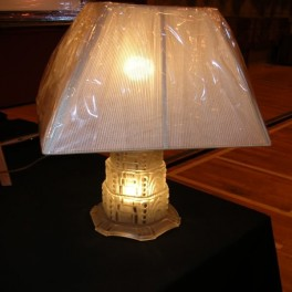 Outstanding glass table lamp by sabino