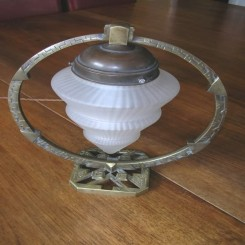 Superb french bronze hoop table lamp