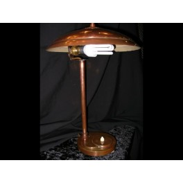 Wonderful & rare english art deco brass table lamp