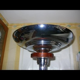 French chrome & glass standard lamp
