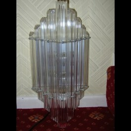 Pair of american lucite triangular wall lights from miami deco hotel