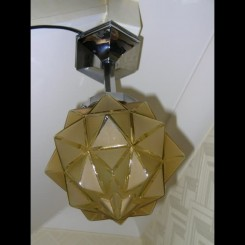 Yellow star shade ceiling fixture