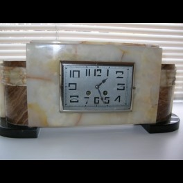 Good french modernist 8 day clock restored