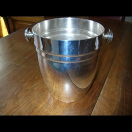 Modernist silver plated french champagne bucket
